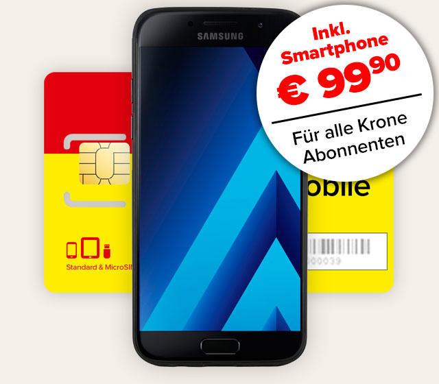 Komplettpaket mit Samsung Galaxy A3 und Smartphone-Tarif für Abonnenten