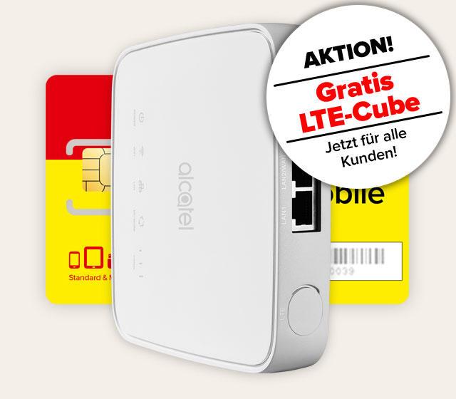 Alcatel LTE Cube in weißer Farbe