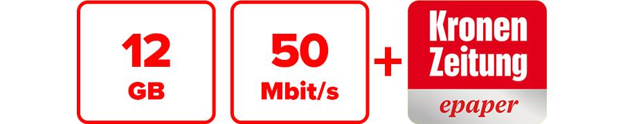 Inklusive 12 GB, 50 Mbit/s und Krone ePaper