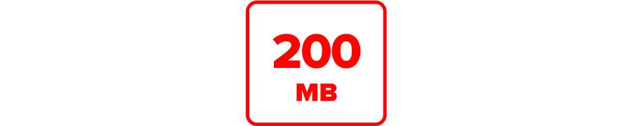 Inklusive 200 MB