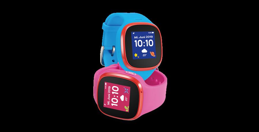 Kids Watch mit blauem und rosafarbenem Wechselarmband